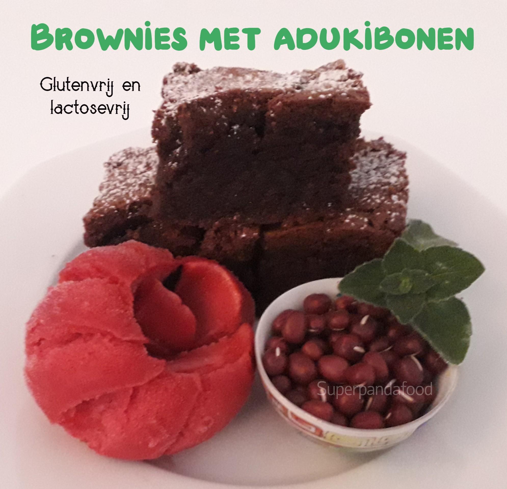Brownies met adukibonen - glutenvrij en lactosevrij - Recept - Superpandafood