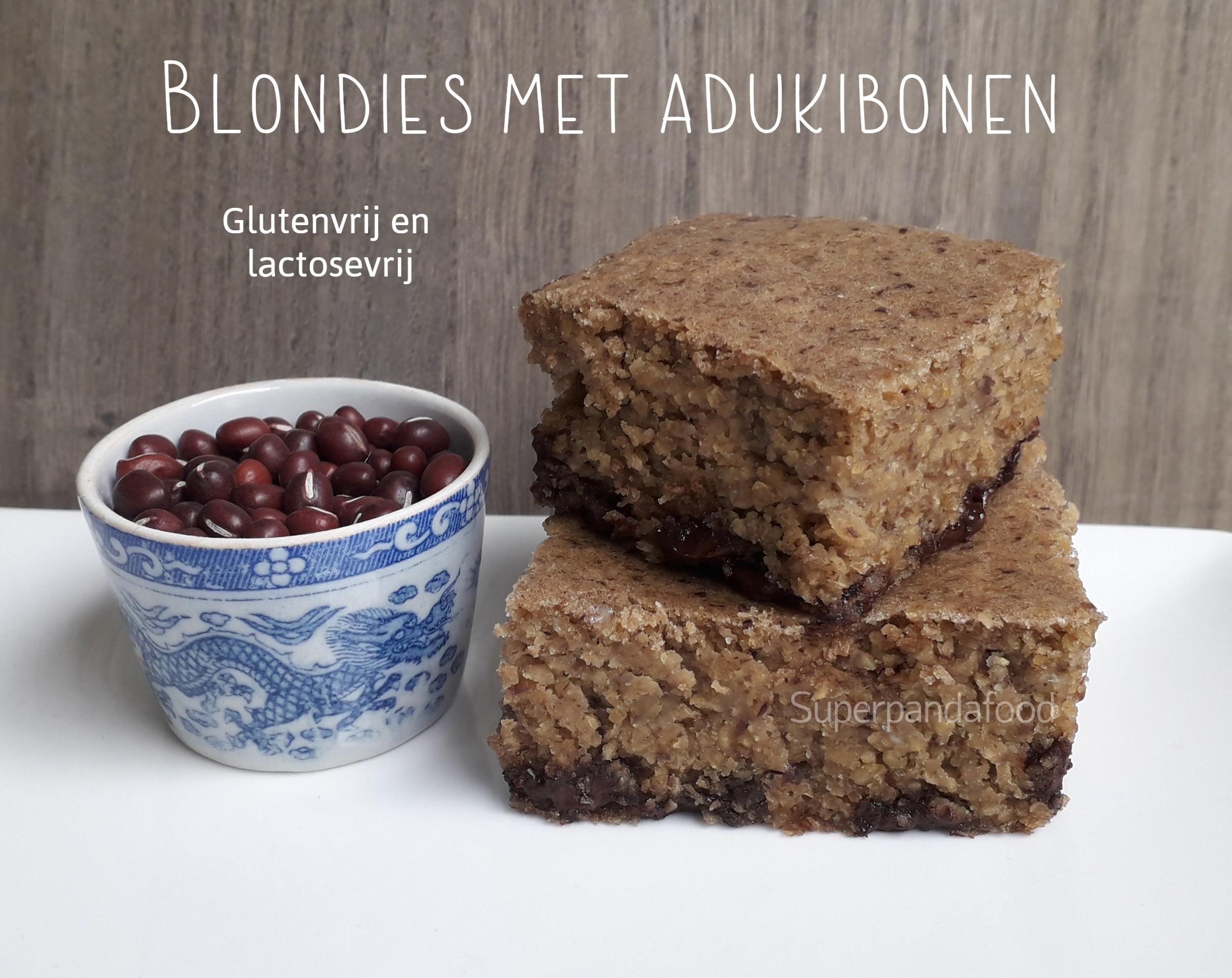 Blondies met adukibonen - glutenvrij en lactosevrij recept - Superpandafood