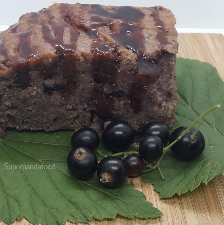 Cake met zwarte bessen - glutenvrij en lactosevrij recept - Superpandafood