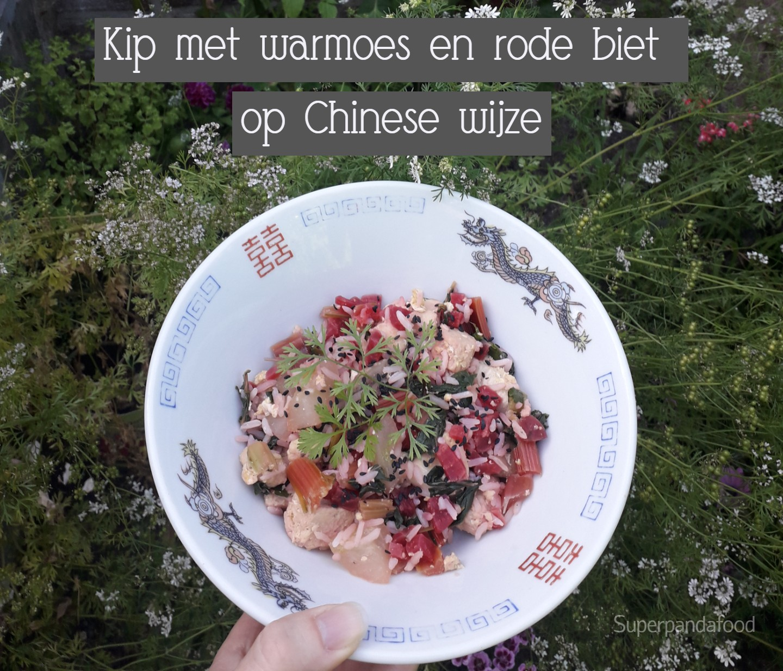 Kip met warmoes en rode biet op Chinese wijze - Fusion cooking recept - Glutenvrij en lactosevrij