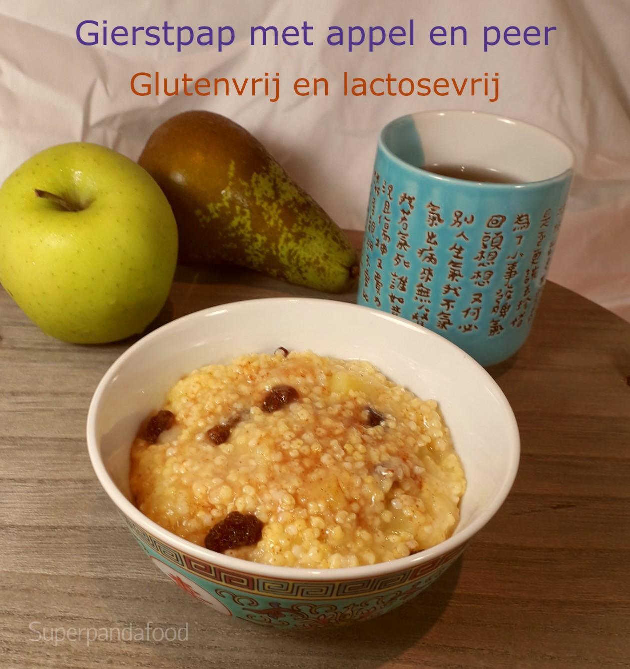 Gierstpap met appel en peer - verwarmend glutenvrij en lactosevrij ontbijt