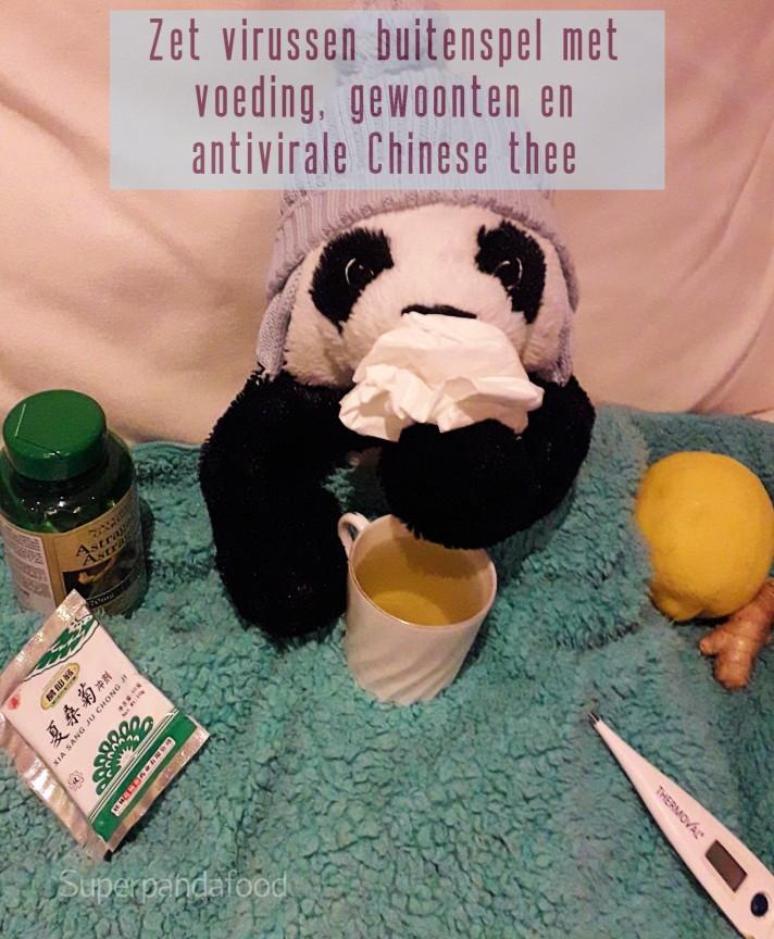Zet virussen buitenspel met voeding, gewoonten en antivirale Chinese thee - TCM