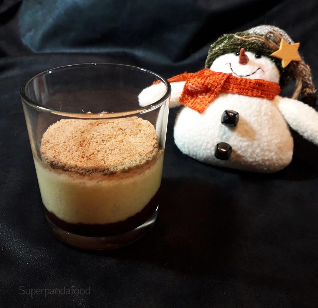 Mangomousse met kokosmelk, speculaas en chocolade - Glutenvrij en lactosevrij recept