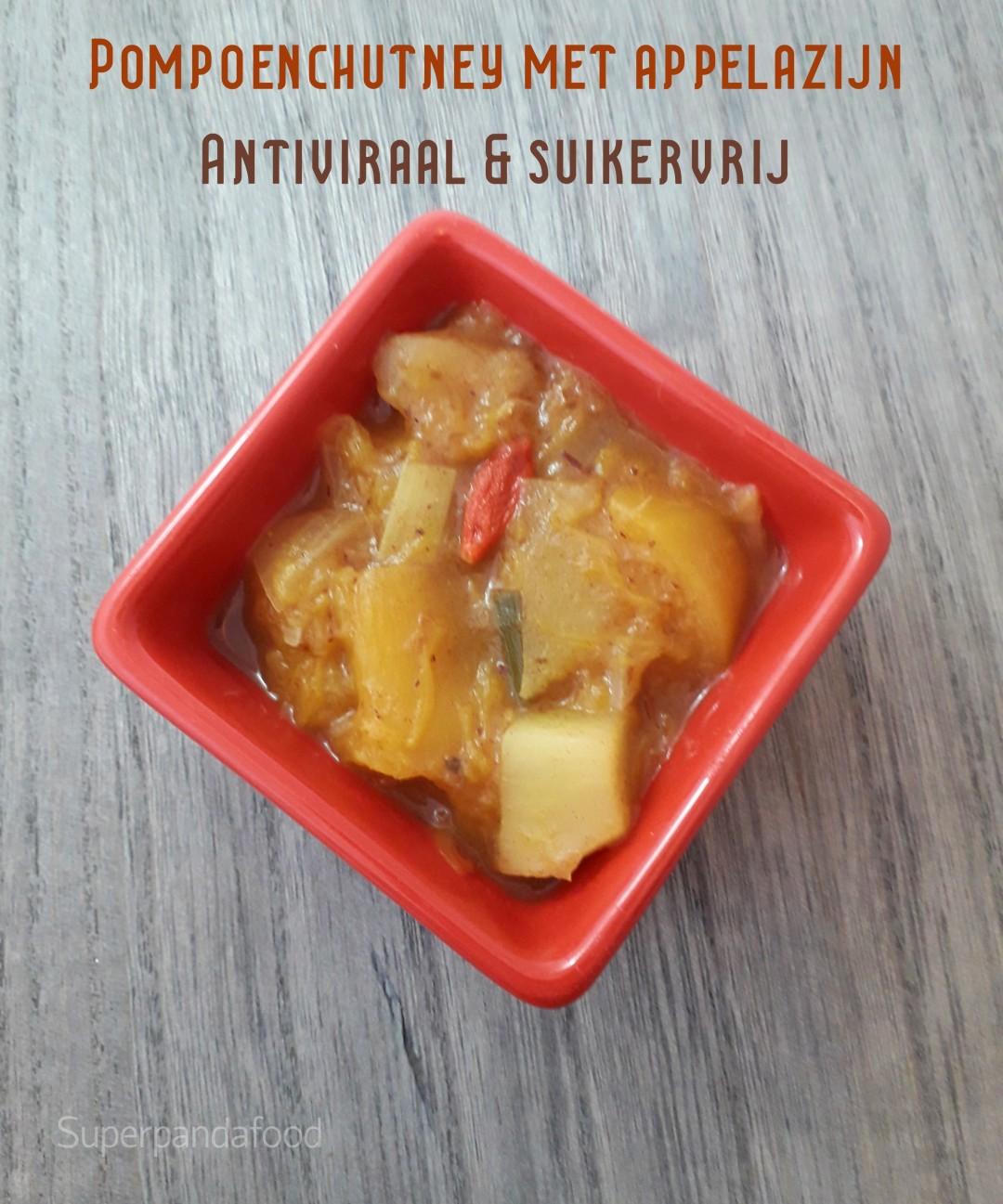 Pompoenchutney met appelazijn - Antiviraal en suikervrij - Superpandafood