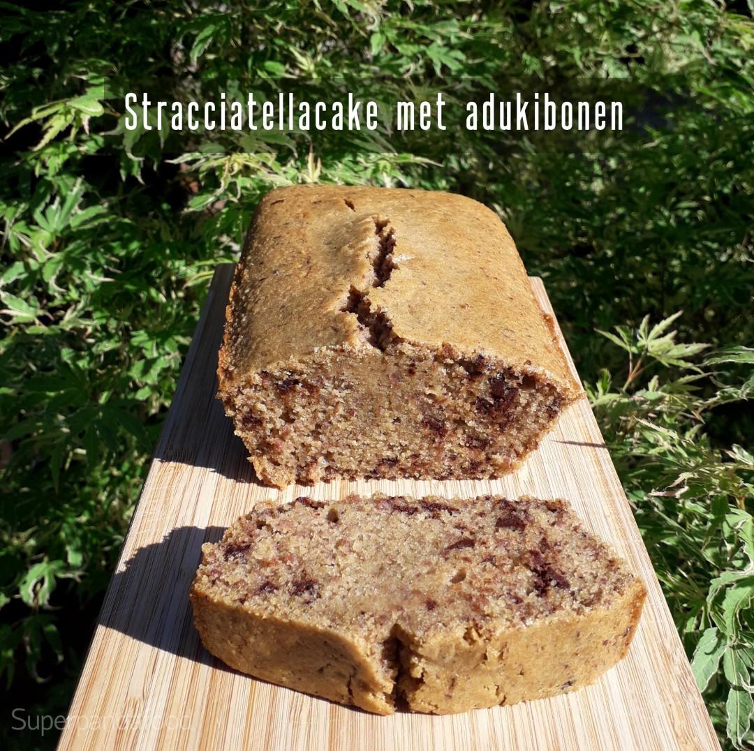 Stracciatellacake met adukibonen - Glutenvrij en lactosevrij